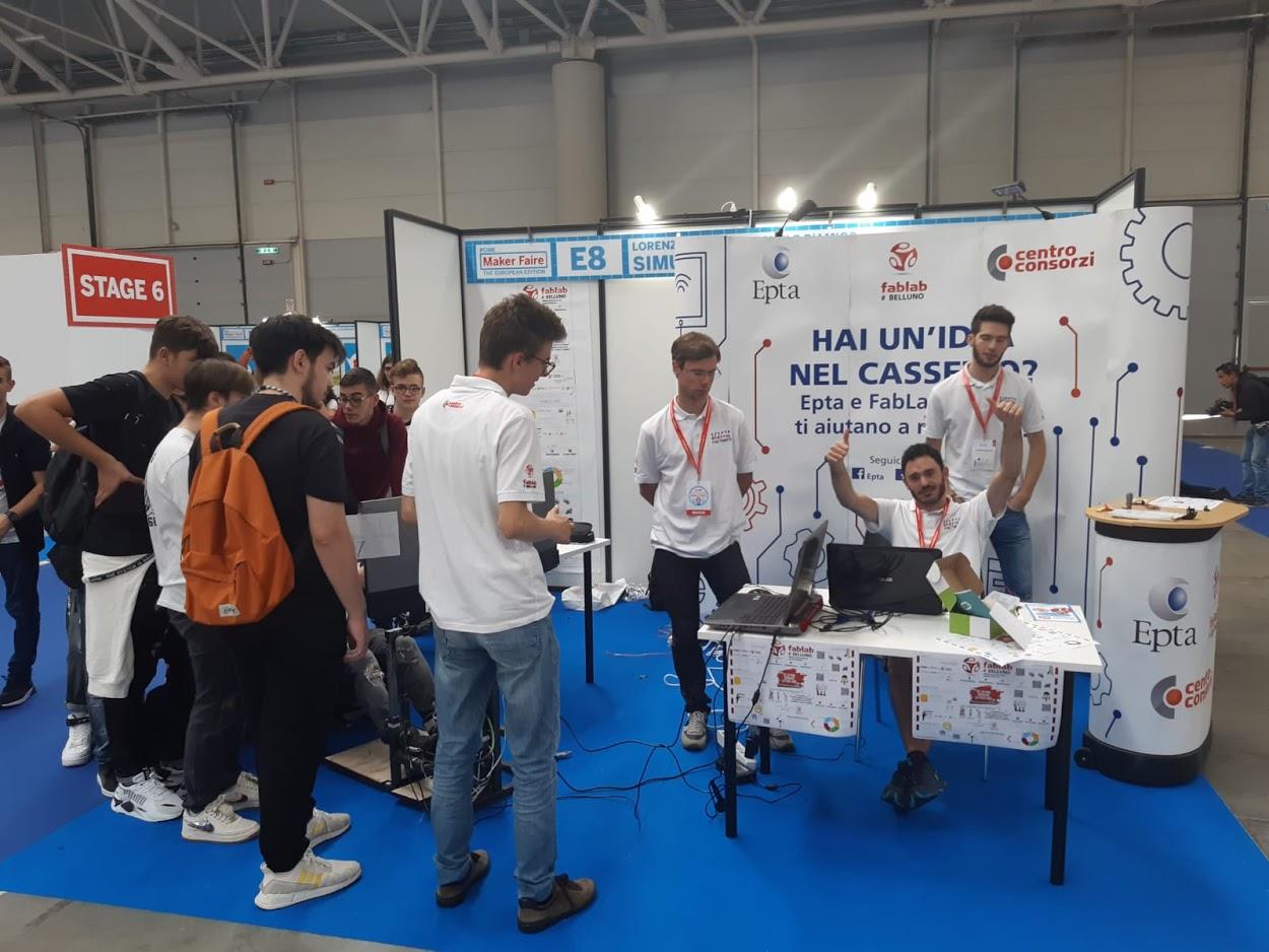 EPTA DIGITAL FACTORY - Simulatore Guida Maker Faire Roma 2019